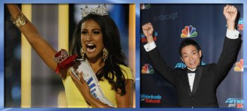 Miss America 2013, Nina Davuluri, and AGT winner Kenichi Ebina.