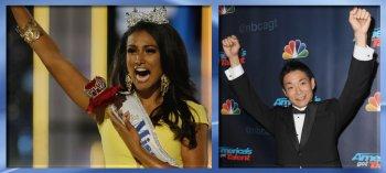Miss America 2013, Nina Davuluri, and AGT winner Kenichi Ebina.