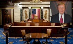 U.S. House chamber. Inset: Glenn Mollette.