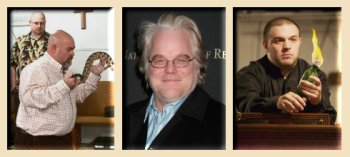 Flirting with death? From l. to r. - Jamie Coots, Philip Seymour Hoffman, Cody Coots.